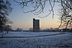 South Kyme tower ... and a snowman