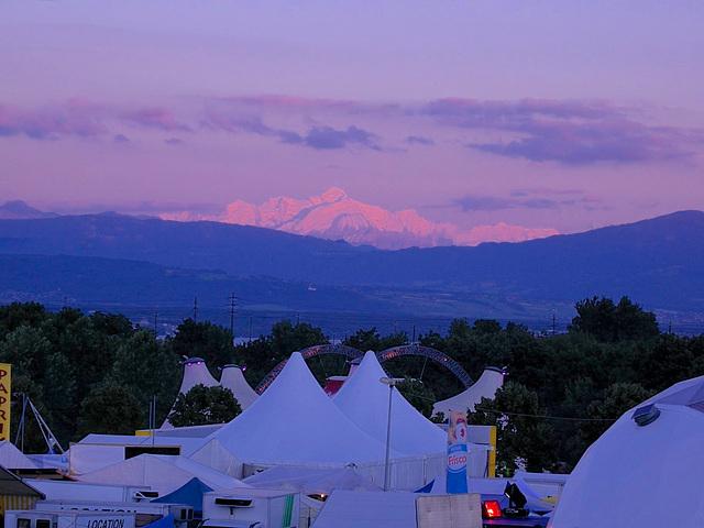 En prime le Mont Blanc