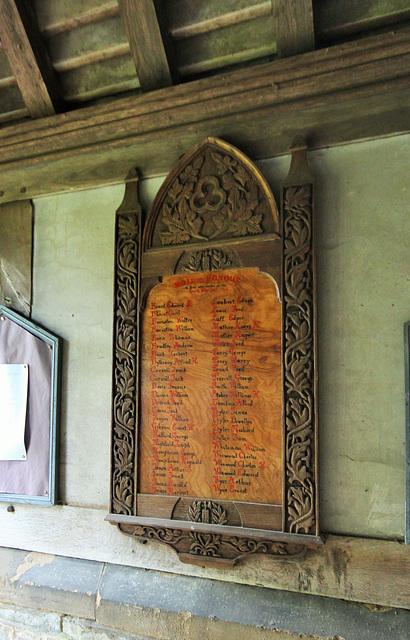 War Memorial, Bayton Church, Worcestershire