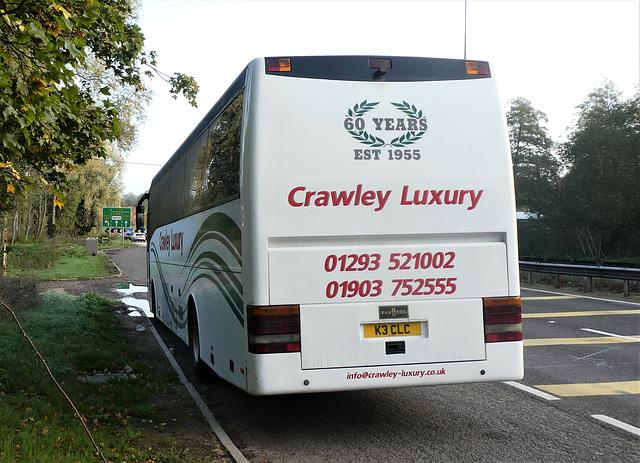 Crawley Luxury Coaches K3 CLC (MX03 ACJ) at Barton Mills - 28 Oct 2019 (P1040877)