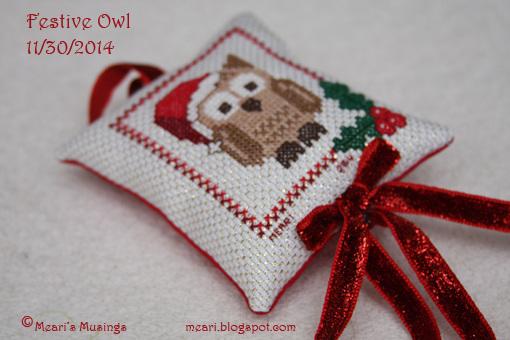 Festive Owl 11/30/2014