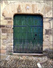 Old door in Sepulveda, Segovia Province