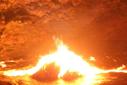 Lava Bursting Through