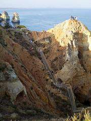 Stairways leading to embarkment to grottos tours.
