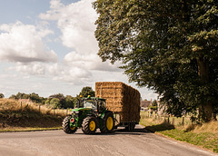 A Tractor Passing Through Avebury
