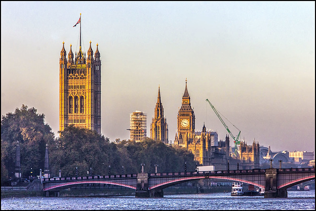 The Parliament houses and Big Ben.