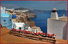 Santorini : Oia, uno scorcio nella parte più antica