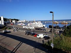 Blick über den Hafen Sassnitz