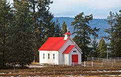 Small Catholic Church at Alexandria, BC - Highway 97.