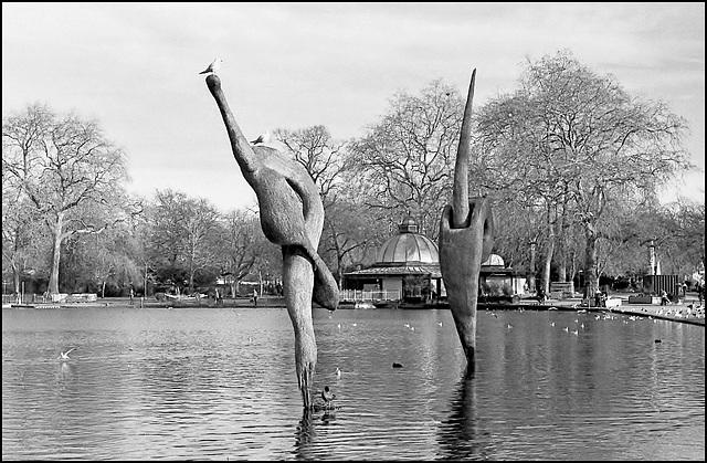 Lake, Victoria Park. Tower Hamlets.