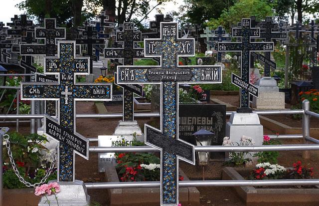 Cimetière orthodoxe en Estonie