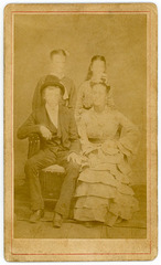 Faceless Family CDV