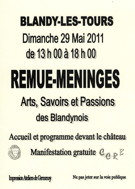 Concert à Blandy-les-Tours le 29 mai 2011