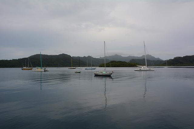 Polynésie Française, Windless in the Lagoon of Taha'a Atoll