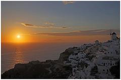 Sunset near Oía