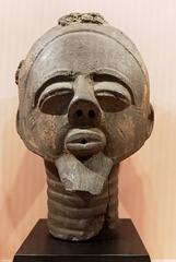 Tête masculine funéraire (Ghana - 17e siècle)