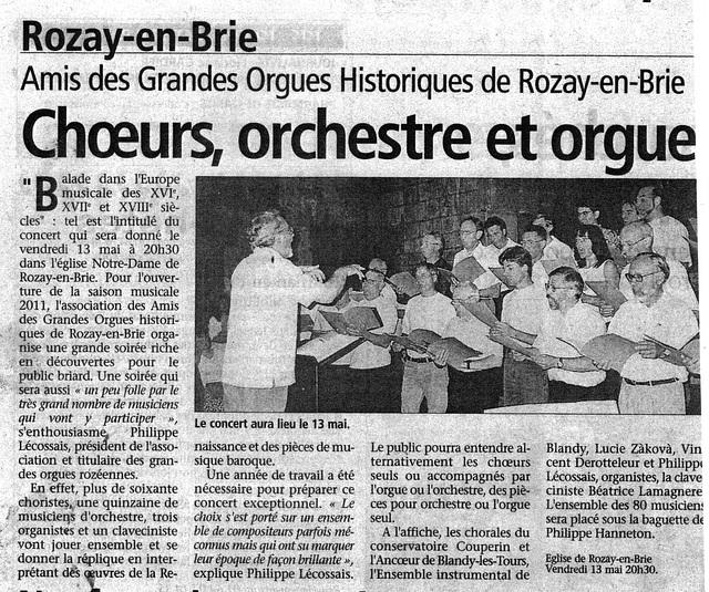 Concert à Rozay-en-Brie le 13 mai 2011