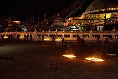 Kathmandu at Night, Boudhanath Stupa, Nepal 2014