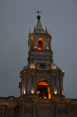 Peru, Arequipa Cathedral Bell Tower