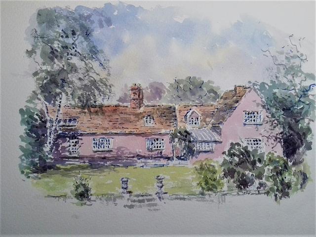 pink cottage, Suffolk