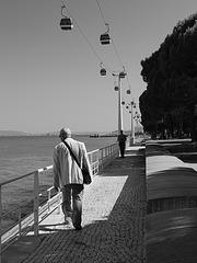 Seafront walking
