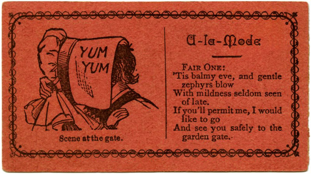 Yum Yum A La Mode Acquaintance Card