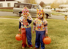 Halloween Clown and Bunny Girls, 1979