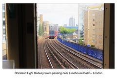 DLR trains Limehouse  - London - 26.5.2015