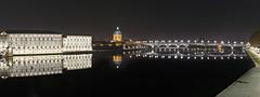 TOULOUSE la Garonne l'Hôtel Dieu le Dôme de la Grave le Pont Saint Pierre au fond le Pont des Catalans-Panorama