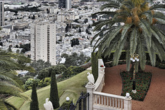 Looking Down – Baha'i Gardens, Viewed from Yefeh Nof Street, Haifa, Israel