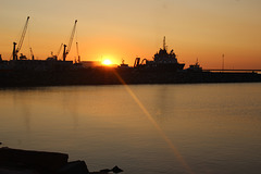 Sonnenaufgang in Mukran