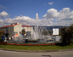 Fountain at the Fire Brigade Roundabout.