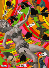 """the birds"": polka-dot bikini version"