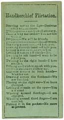 Hankerchief Flirtation Card