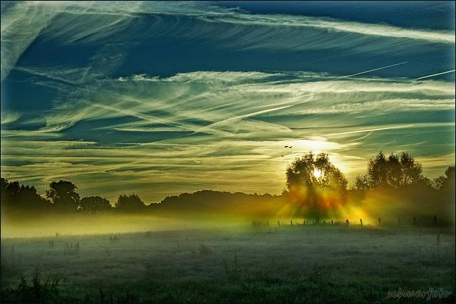 Herbstliche Morgenstimmung im Hülser-Bruch