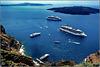 Santorini : Costa Mediterranea in rada a Ormos di Thera - (997)