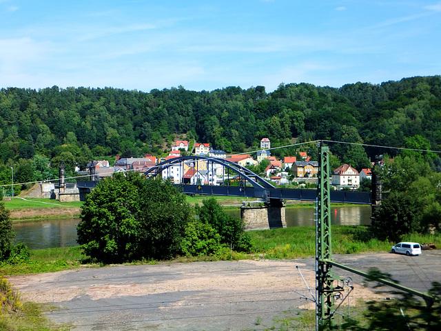 Elbbrücke bei Bad Schandau. ©UdoSm