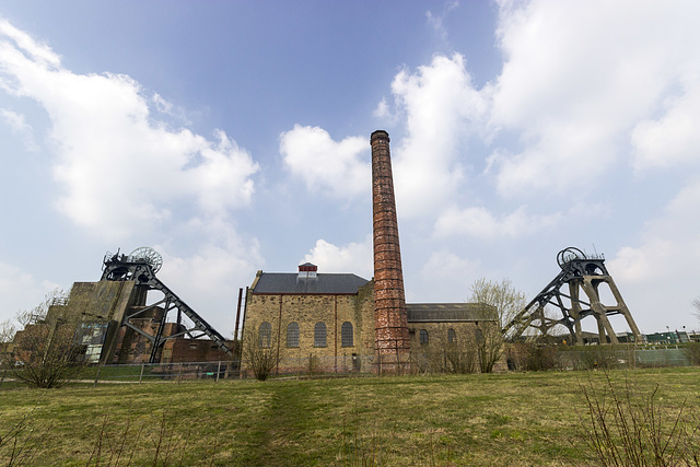 Pleasley Colliery - southern aspect.
