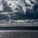 Dark clouds over the Dee estuary