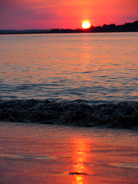 coucher du soleil sur Lancieux