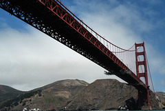 San Francisco, Golden Gate Bridge, Looking up
