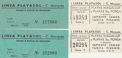 Empresa Catalina Marques bus tickets 1970 and 2000