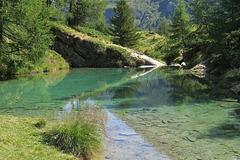 Le Lac bleu d'Arolla, Valais (Suisse)
