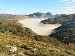 Nieblas en el puerto.Alisas.Cantabria.