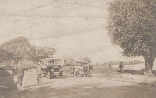 Bus at Bardsea near Ulverston circa 1930s