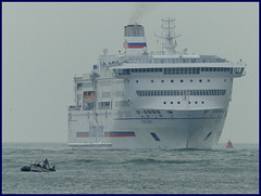 Pont-Aven approaching Portsmouth - 27 October 2015