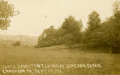 Charles K. Hamilton Flying at the Cameron County Fair, Emporium, Pa., Sept. 14, 1911