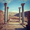 Petra. Blue columns.