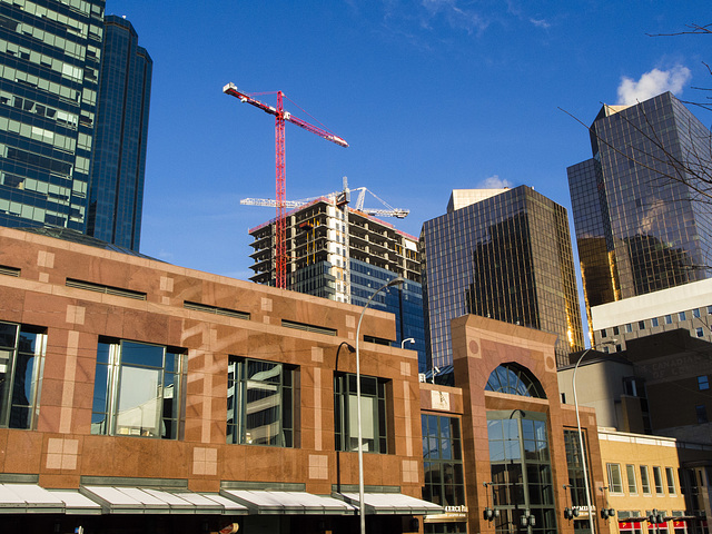 Downtown Edmonton on a Sunny Winter Day