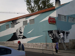 Mural in course, on local market.